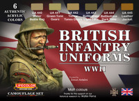 Lifecolor - British WWII Infantry Uniforms Acrylic Set