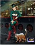 Masterbox Models - At the Edge of the Universe: Female Grifter Sitting on Stool Leaning on Bar