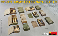 Miniart Models - Soviet Ammo Boxes w/Shells