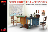 Miniart Models - Office Furniture & Accessories