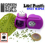 Green Stuff World Miniature Leaf Punch MEDIUM Purple -Maple