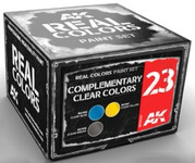 AK Interactive: Real Colors - Complementary Clear Colors Acrylic Lacquer Paint Set 23