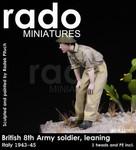 Rado Miniatures - British 8th Army Soldier, leaning