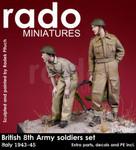 Rado Miniatures - British 8th Army soldiers (2), Italy, 1943-45
