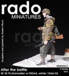 Rado Miniatures - After the Battle, WSS Pz. Grenadier w/SIG44, Winter, 1944-45