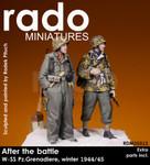 Rado Miniatures - After the Battle, WSS Pz. Grenadiers (2), Winter, 1944-45