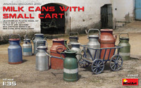 Miniart Models - Milk Cans w/Small Cart