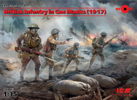 ICM Models - WWI British Infantry in Gas Masks, 1917