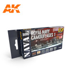 AK Interactive - Royal Navy Camouflages 1 - Navel Series Set