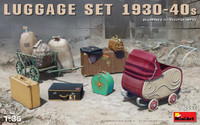 Miniart Models - Luggage Set 1930-40s (Dock Cart, Pram, Suitcases & Bags)