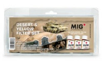 MiG Productions - Enamel Desert & Yellow Filter Set