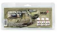 MiG Productions - 	Enamel Green Colors Filter Set