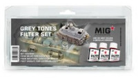 MiG Productions - Enamel Grey Tones Filter Set
