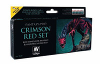 Vallejo - Crimson Red Tones Fantasy-Pro Paint Set