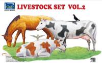 Riich Models - Livestock Set Vol.2: Horse, Cows, Pigeons