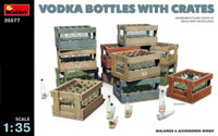 Miniart Models - Vodka Bottles w/Crates