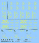 Archer Fine Decals and Transfers - 25-Pdr Box Stencils for Cartridges & Shell Boxes