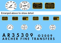 Archer Fine Decals and Transfers - Bantam 40 BRC Instruments & Placards for MNA