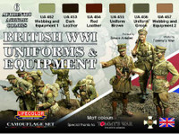 Lifecolor - British WWII Uniforms & Equipment Acrylic Set