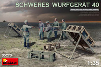 Miniart Models - WWII Schweres Wurfgerat 40 German Rocket Launcher w/5 Crew & Missiles