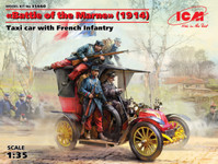 ICM Models - Taxi Car w/4 French Infantry, Battle of the Marne 1914