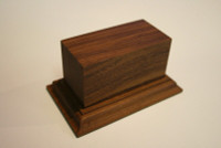 Wood Figure Base - Pedestal Base, 54mm, Mounted