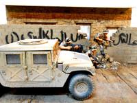 Dioramas Plus - Baghdad Breakdown Iraqi Street, Ruined Building Front w/Base