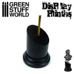 Green Stuff World - Round Tapered Black Bust Plinth