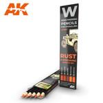 AK Interactive: Weathering Pencils - Rust & Streaking Effects Set