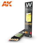 AK Interactive: Weathering Pencils - Chipping & Aging Set