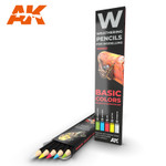 AK Interactive: Weathering Pencils - Basic Colors Shading & Demotion Set