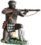 Wm. Britain: Anglo Zulu War - Zulu uDloko Regiment Kneeling Firing Percussion Rifle No.1