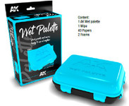 AK Interactive - Wet Palette Container to extend use of Acrylic Paint w/wipe, papers, foams