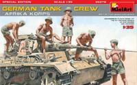 Miniart Models - German Tank Crew Afrika Korps (5) w/Weapons