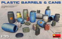Miniart Models - Plastic Barrels and Cans