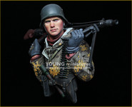 Young Miniatures - German Machine Gunner, Eastern Front, WWII