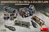 Miniart Models - WWII German Rockets 28cm WK Spr & 32cm WK Flamm