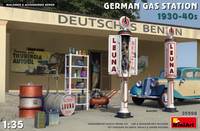 Miniart Models - German Gas Station Accessories 1930-40s