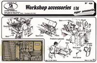 Royal Model - Workshop Accessories: various tools, welding mask, etc. (Photo-Etch)