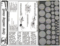 Royal Model - Spray Masking Stencil for Tank Wheels  (Photo-Etch)