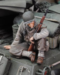 Royal Model - WWII US Infantry at Rest Sitting w/Rifle