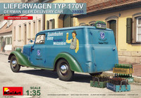 Miniart Models - German (Lieferwagen) Type 170V Beer Delivery Car w/Bottles & Crates