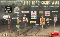 Miniart Models - WWII Allies Road Signs, European Theater of Operations