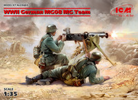 ICM Models -  WWII German MG08 Machine Gun Team (2) w/Weapons & Equipment