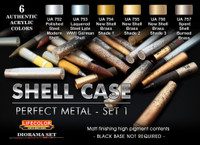 Lifecolor - Shell Case Perfect Metal #1 Diorama Acrylic Set