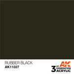 AK Interactive: 3rd Generation Acrylic - Rubber Black