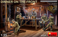 Miniart Models - Dinner on the Front: Soviet Soldiers (5) w/Furniture & Accessories