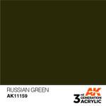 AK Interactive: 3rd Generation Acrylic - Russian Green