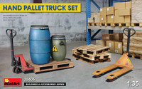 Miniart Models - Pallet Jacks (2) w/Pallets (4) & Barrels (2)