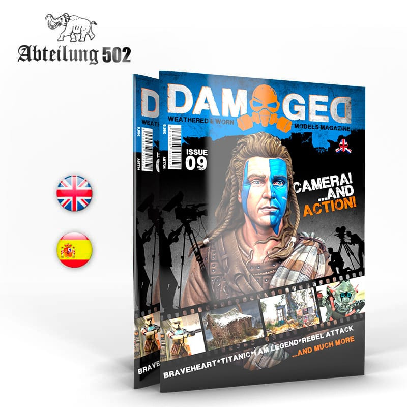 NEW Abteilung 502 Damaged English 09 Worn And Weathered Models Magazine